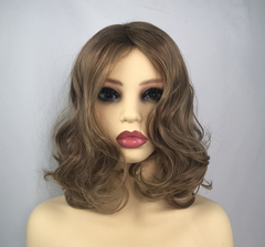 Synthetic Wigs Medium length  WaveWigs Women's Fashion Wigs Brown like picture one size