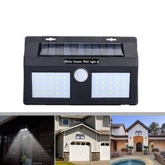 LED Solar Lighting Home Improvement Powered Sensor Garden Fence Security Wall Lamp Night Light White light(led) 194*120*45 10w(40LED)