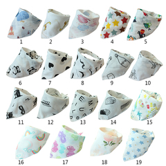 Baby Bibs High Quality Triangle Double Layers Cotton Cartoon Character Animal Pattern Bibs Towels Colour A1