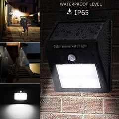 20 LED Solar Lighting & Home Improvement Sensor Light Garden Security Wall Light Lamp Night Light Black 96*124*48mm 0.65W
