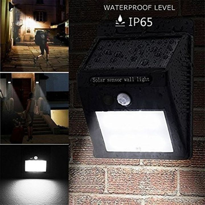 20 LED Solar Lighting & Home Improvement Sensor Light Garden Security Wall Light Lamp Night Light Black 96*124*48mm 0.65W