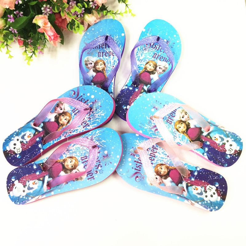 ca74d61bbde9e1 ... Slippers Summer Children s Cartoon Love sand Frozen Flip Flops Purple  24-25  Product No  10065716. Item specifics  Seller SKU lzx-flip-Z24-25   Brand