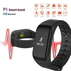 Waterproof F1 Smart Band Wristband Sport Watch Bracelet Call Step Pulse Heart Rate Monitor Black one size