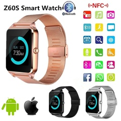 Latest Z60S Smart Watch Pedometer Sleep Monitor Compatible with Huaiwei,Android,ios Mobile Phone Black one size