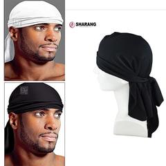 Bloem Men's Fashion Accessories  Long-tailed Caps Spandex King'S Durag White Adjustable