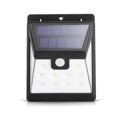 LED Solar Powered Wall Lamp PIR Motion Sensor Waterproof Light Bulb Garden Light Outdoor Night Light One 124*95*48 4W