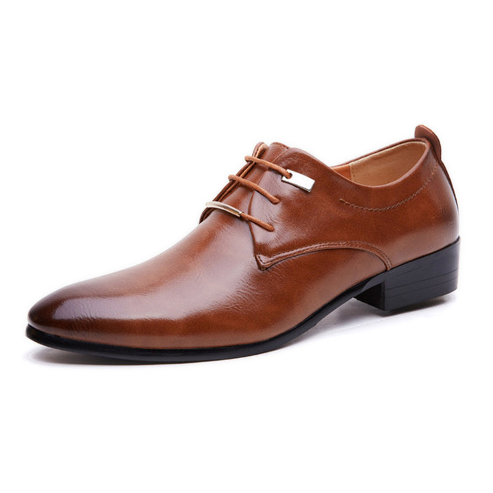 Phoenix Business Men Flat Classic Pure Leather Wingtip Carved Formal Oxford Wedding Shoes black 42
