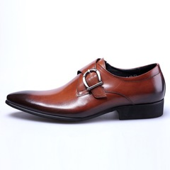 Luxury Brand PU Leather Men Shoes High Quality Business Derby Shoes Men Wedding Shoes Black 39 PU Leather