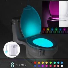 8 Colors Toilet Sensor Light LED Lamp Motion Activated PIR Automatic RGB Night Lighting 8 colors 6.5*7*1.7cm