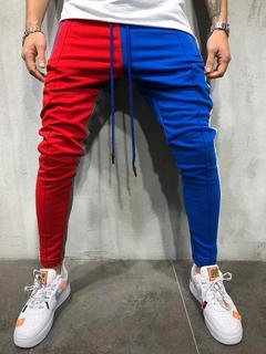 Phoenix Men Hip Hop Sweatpants Fitness Joggers Male Side Stripe High Street Hip Trousers Harem Pants Yellow&Black M