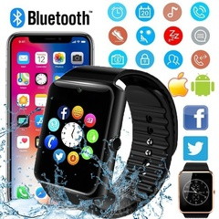 GT08 Wearable Smart Watch With Hands-Free Call Phone Clock Push Message For Android Phone Black one size