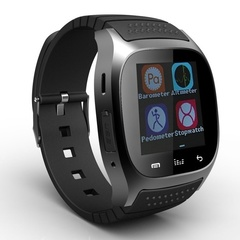 Waterproof Smartwatch M26 Bluetooth with LED Altimeter Music Player for iOS Android Smartphone Black one size