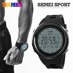 SKMEI Men Sports Watches World Time Countdown Wristwatches 50M Waterproof 3 Alarm Digital Watch Black one size