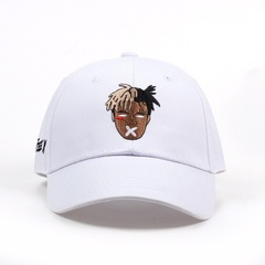 Hip Hop Trap Rap Rapper XXXtentacion Embroidery Cotton Baseball Snapback Trucker Hats for Women Men White Adjustable