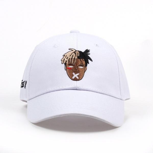 Hip Hop Trap Rap Rapper XXXtentacion Embroidery Cotton Baseball Snapback Trucker Hats for Women Men White Adjustable