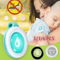 1/3/6pcs Baby Mosquito Repellent Bracelet Stickers Pregnant Anti Mosquito Control Buttons A(1pc) 4*4cm