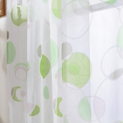 3d Printed Kitchen Decorations Home Window Treatments Curtains Living Room Divider Sheer Green 100*130cm