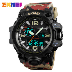 SKMEI Big Dial Digital Watch Skmei Men Military Army Watch Waterproof Resistant LED Sports Watches Red one size