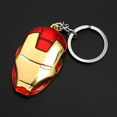 The Latest Fashion Movie iron man Keychain Model Key The Avengers Alloy Key Rings Buckle Beautiful Red one size