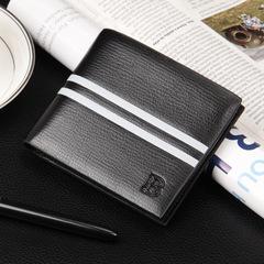 Baellerry Leather Men's Wallet Business Credit Card Holder Money Purse Bifold Gift Black one size