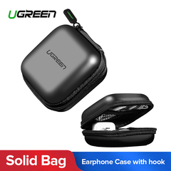 UGREEN Zipper Earphones Earbuds Carrying Bag Case Memory Card USB Cable Waterproof Organizer Box Black one size
