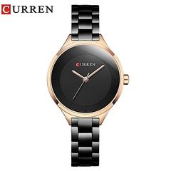 CURREN Mini Dial Quartz Watch Ladies Waterproof Watch Casual Watch Black one size