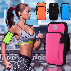 Sport Bag Phone Key Card Money Holder Cellphone Armband Bag with Earphone Jogging  Cover Black