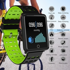 Smart Watch OLED Color Screen Smartwatch Men Fashion Fitness Tracker Heart Rate for Android Ios Black one size
