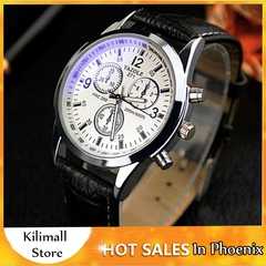 Men Business Wristwatch Luxury Famous Male Men Watches Clock Sports Quartz Watch Valentines Gift Black one size