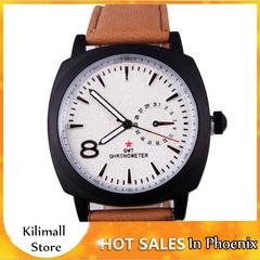 MOK Brand Men Watch Fashion Sport Leather Wristwatches Relogio Masculino Watch Black one size