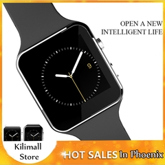 X6 Touch Screen Bluetooth Smartwatch with Bracelet Compatible Electronic SIM Card Available Gear black one size