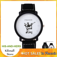 World Bestselling Women Men Lovers Couple Crowns King or Queen Watches Valentines Gift King 1 one size