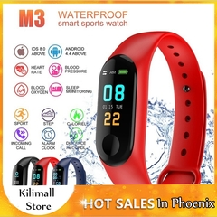 M3 USB Rechargeable Bluetooth Smart Wristband Waterproof Sport Watchband Multi-function Smartwatch Black one size