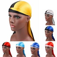 Unisex Silk Durags Bandana Turban Hat Doo Durag Headwear Headband Pirate Cap Wrap Black&White Adjustable