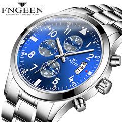 FNGEEN Generation Multi-function Watch Men's Waterproof transport Foreign Trade Quartz Men's Watch Black one size