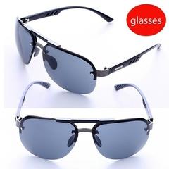 UV 400 Protection  Rimless Sunglasses  Personality Polarized Sunglasses Men's Driving Sunglasses Grey one size