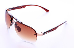 UV 400 Protection  Rimless Sunglasses  Personality Polarized Sunglasses Men's Driving Sunglasses Tan one size