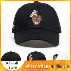 Hip Hop Trap Rap Rapper XXXtentacion Embroidery Cotton Baseball Snapback Trucker Hats for Women Men Black Adjustable