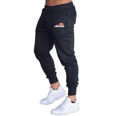 Mens Sports Drawstring Elastic Sweatpants Casual Hip Hop Ellesse Jogger Pants Pantalon Homme Black m