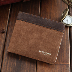 HENGSHENG Valentine's Gift-High Quality Vintage Men Wallet-Leather Luxury Short Male Clutch Wallet A one size