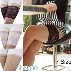 Lace Floral Elastic Anti-Chafing Anti-friction Invisibility Thigh Bands Leg Warmers Cuffs for Women A S