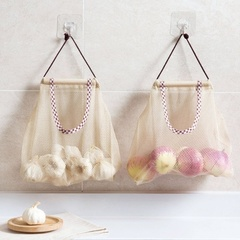 2pcs Home Large Capacity Storage Kitchen Dining Hanging Bag Kitchen Organize Mesh Pouch As picture shows 2pcs