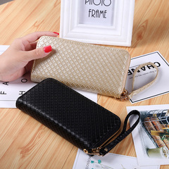 Women's Long Coin Bag Simple Bow Zero Zipper Wallet Short Coin Purse Card Pack Black one size