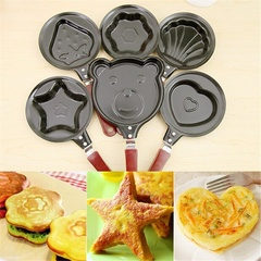 Cattoon Omelette Breakfast Mini Saucepan Pancake Egg Frying Pan Non-Stick Pot Molds Heart One size