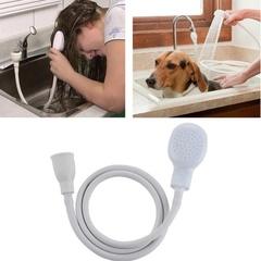 Shower Head Spray Drains Strainer Hose Sink Washing Hair Dog Shower Head Pet Bath Tool White One size