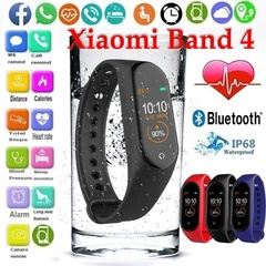 M4 Smart Wristband Fitness Bracelet Heart Rate Monitor Activity Tracker Sport Watch for IOS Xiaomi Black one size