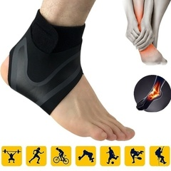 1PCS Men Sport Protection Breathable Ankle Compression Socks Support Outdoor Protective Gear Socks Left S