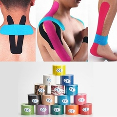 2pcs 5M Kinesio Tape Athletic Kinesiology Tape Taping Strapping Fitness Tennis Running Football A 2.5CMX5M