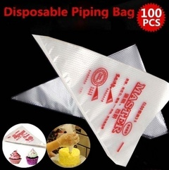 100pcs Practical Cake Disposable Piping Icing Bags Disposable Piping Bags Cake Cream Decorating 100PCS S
