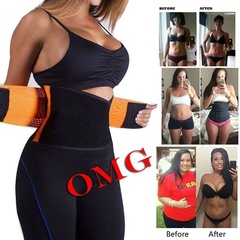 Xtreme Belt Hot Power Slimming Belt Body Shaper Waist Trainer Trimmer Sport Gym Sweating Fat Burning Black-S